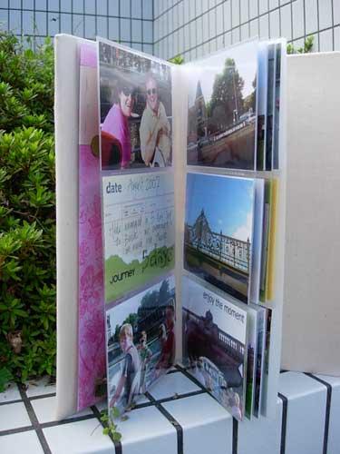 Canvas Covered Photo Album - inside
