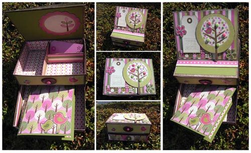 Memory box with drawer and mini